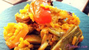 Receta de arroz y verduras