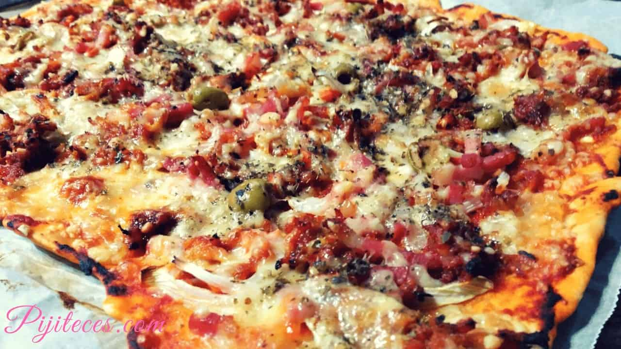 Receta de pizza de pulled pork