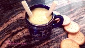 Batido de zumo de piña y coco