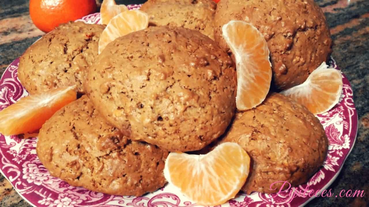 Galletas de avena y mandarina