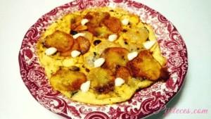 Tortilla de patatas y gambas