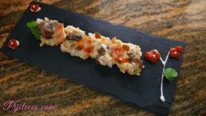 Risotto de champiñones Portobello