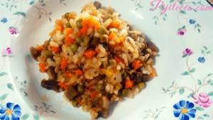 Arroz y verduras con hierbas provenzales