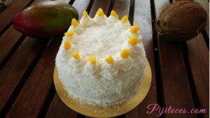Tarta de coconut y mango