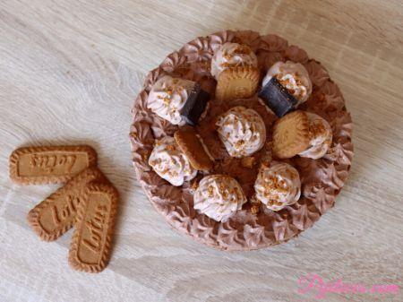 Tarta de galletas de Lotus y chocolate
