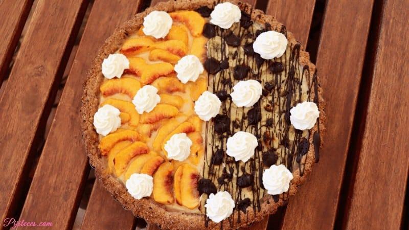 Tarta de crema pastelera y frutas